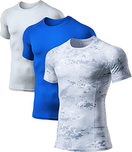 ATHLIO Men's Cool Dry Short Sleeve Compression Shirts, Sports Baselayer T-Shirts Tops, Athletic...