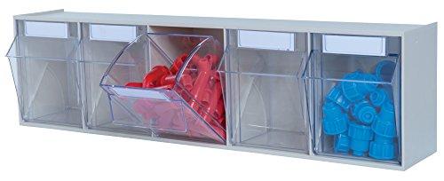hünersdorff Klarsichtbehälter / Aufbewahrungsbox / Riegel für ein optimales MultiStore-Lagersystem im Baukastenprinzip aus hochschlagfestem Kunststoff (PS), Nr. 5