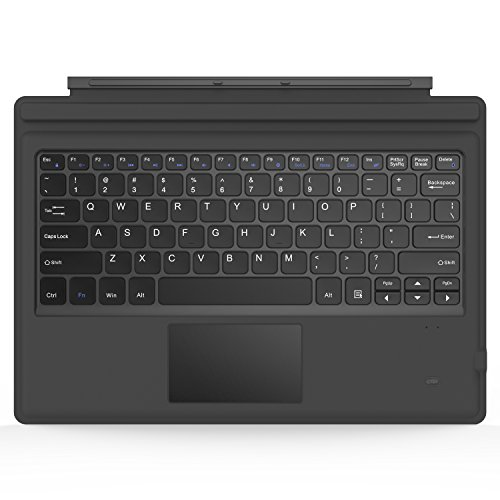 MoKo Surface Pro 7Plus/7/6/4/3/Pro 2017 Teclado Inalámbrico Bluetooth - Wireless Keyboard (QWERTY) para Microsoft Surface Pro 6/4/3 Tableta/Panel Táctil 2 Botones, (NO Apta para Surface 3) Gris