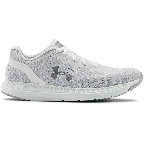 Under Armour Women's Charged Impulse Knit Running Shoe, White (100)/White, 8 M US