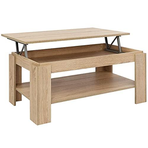 COMIFORT Tavolino da Salotto con Piano Sollevabile - Mobile Portariviste, Ottima Capienza, Stile...