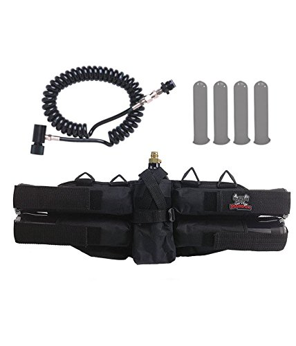 Maddog Sports 4+1 Paintball Harness w/Pods & Standard Remote Coil