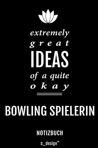 Notizbuch für Bowling Spieler / Bowling Spielerin: Originelle Geschenk-Idee [120 Seiten liniertes blanko Papier]