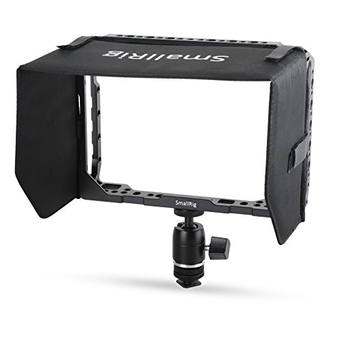SMALLRIG Monitor Cage para Blackmagic Video Assist (BMVA) 7 Pulgadas Monitor con Sunhood y Ballhead - 1988