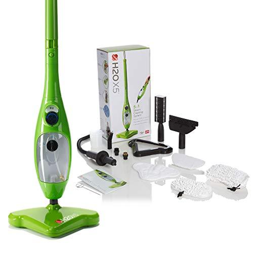H2O X5 - Steam Mop - 5 in 1 Steam Cleaner (Green)
