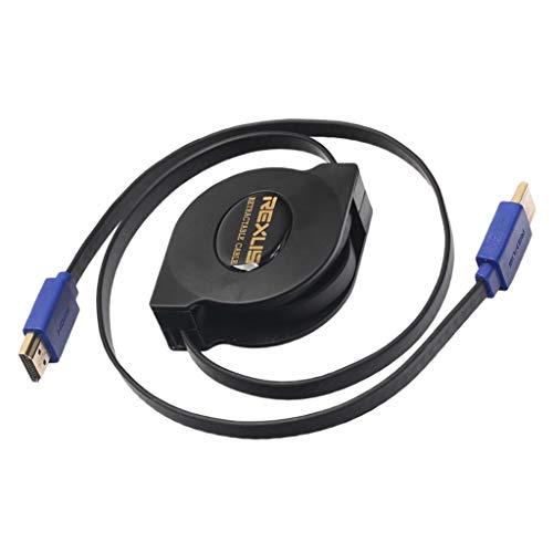 Homyl 1 Pieza Cable HDMI Retráctil V4.1 Adaptador 1080P Mano de Obra Exquisita Industria Ciencia - 1.8m