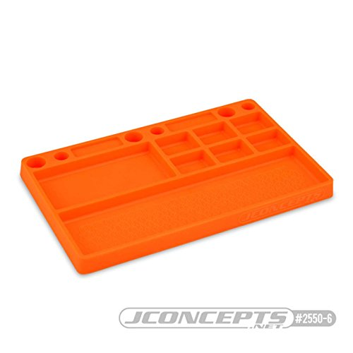J Concepts Parts Tray Rubber Material, Orange