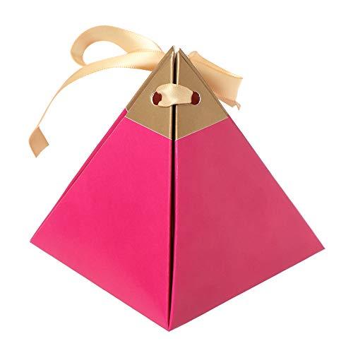 jumpeasy 10 stks creatieve baby douche chocolade pakket bruiloft gunsten snoep dozen driehoekige piramide geschenken zakken marmering stijl