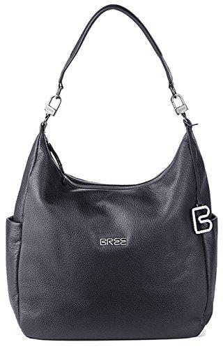 BREE NOLA 6 | Damentasche Echtleder | Beutelform mit DREI Trageoptionen | Rucksack, Handtasche oder Schultertasche | Blue