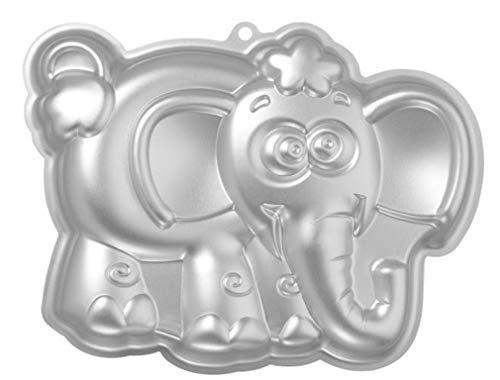Wdyjmall 27cm/25,4cm en forme d'éléphant en aluminium 3d Moule à Cake Moule à gâteau Moule à gâteau–Éléphant