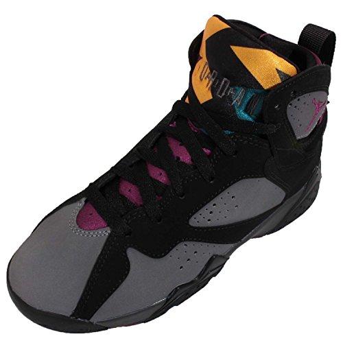 Nike Jungen Air Jordan 7 Retro BG Basketballschuhe, Schwarz/Grau (Schwarz/Brdx-Lt Grpht-Mdnght Fg), 37 1/2 EU