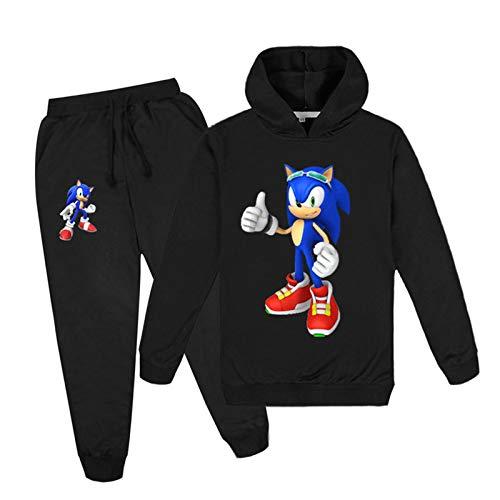 mama stadt Trainingsanzüge für Jungen Mädchen Sonic The Hedgehog Kapuzenpullover Sweatshirt Jogginghose Set Kinder Sportanzug/170