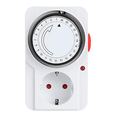 Bigking Timeruttag, mekaniskt 24-timmars uttag för inomhus timer hem säkerhet verktyg EU-kontakt 230 V