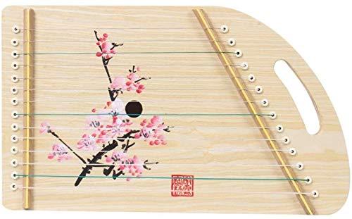 Woodtree Newbie GuanXiao Guzheng Zither Mini Praxis Klavier Tragbarer Erwachsene Anfänger Klaviersaiteninstrument Kinder (Farbe: E) Farbe: E (Color : B)