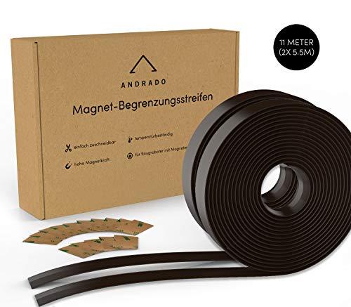 11m (2er-Set) Saugroboter Magnetband (mit Klebestreifen) - XXL Begrenzungsstreifen für Staubsauger-Roboter - u.a. kompatibel mit Xiaomi Roborock, Neato, Vorwerk, Tesvor, Bagotte, Proscenic von ANDRADO