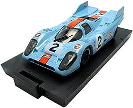 BRUMM 1/43 Scale Prefinished Fully-Detailed Diecast Model, Porsche 917, Winner '71 1000 KM Monza, Wyer Gulf, #2, Rodriguez & Olivier R221-UPD04
