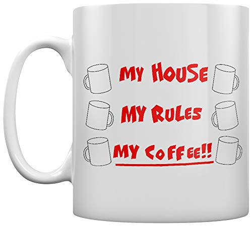 Grindstore My House My Rules My Coffee!! Becher Weiß