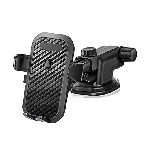 xingguang Soporte para teléfono móvil con ventosa telescópica, soporte giratorio de 360 grados, para navegación, accesorios para interiores automotrices (color negro)