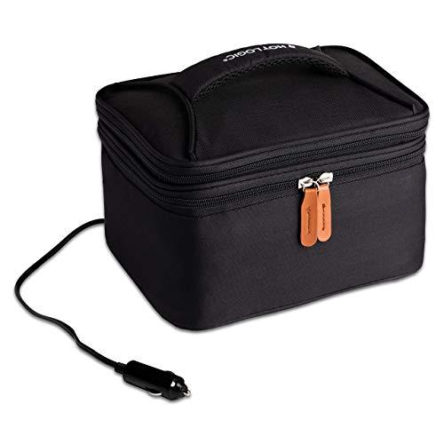 HotLogic 16801174-BLK Food Warming Tote Lunch Bag Plus 12V, Black