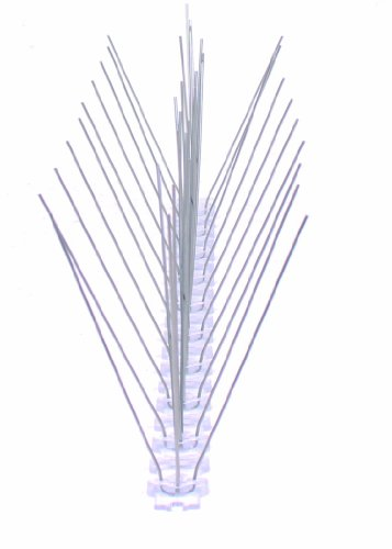 MD 50 cm 3 reihig Edelstahl Taubenabwehr Vogelabwehr Taubenspikes Polycarbonat Profiqualität jetzt mit A+ Zertifizierung