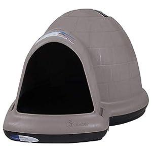Petmate Indigo Dog House All-Weather Protection Taupe/Black 3 sizes Available, TAUPE/BLACK, Large