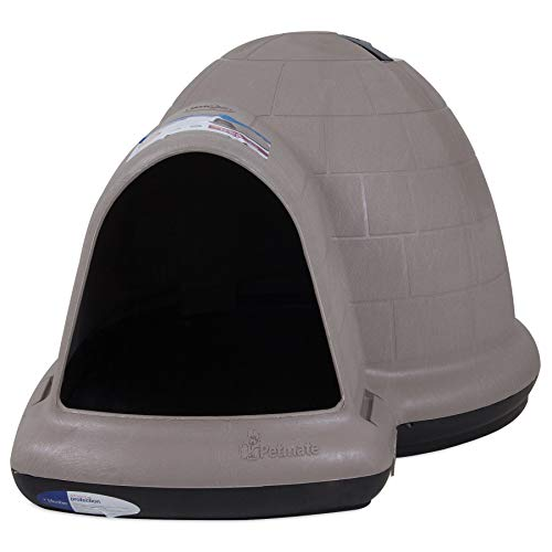 Petmate Indigo Dog House All-Weather Protection Taupe/Black 3 sizes Available,...