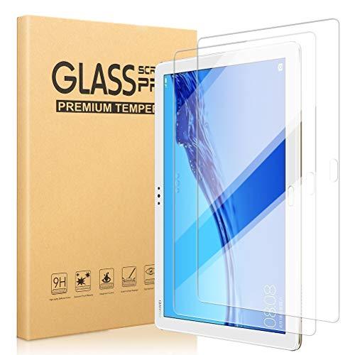 [2 Pezzi] Vetro Temperato Pellicola Protettiva per Huawei Mediapad M5 Lite 10, salvaschermo in Vetro temperato HD [Durezza 9H] [Anti-Graffo] [Bolla Libera] Compatibile con Mediapad M5 Lite 10 10.1''