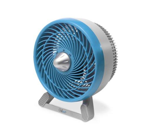 Honeywell GF601E Chillout-Ventilador Silencioso Portatil de Mesa, 31 W, Color Azul