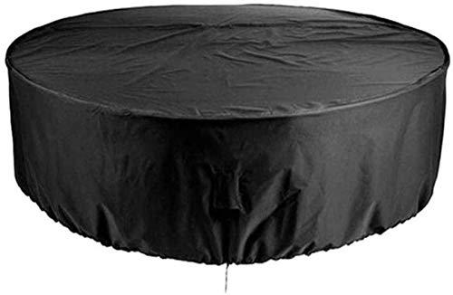 Cubiertas de Mesa Redonda Mesa de Comedor de jardín Impermeable Patio Exterior A Prueba de Lluvia Polvo/Sol Protección para Muebles inactivos Negro (Color: Negro, Tamaño: 80x80cm)