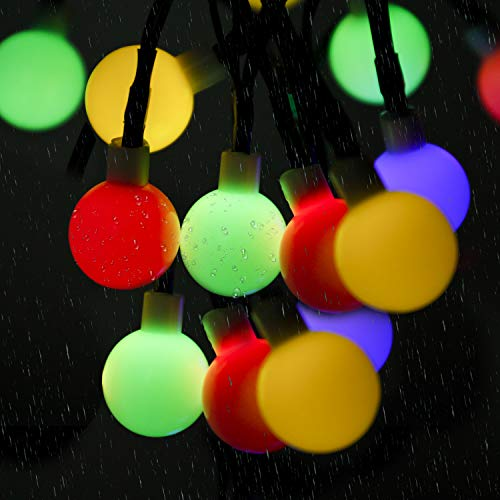 Solar String Lights, SUNNEST 60 LED 8M Waterproof Outdoor Festival Lights LED Solar Lights Celebrate Wedding/Birthday/Christmas Party Colorful Solar String Lights