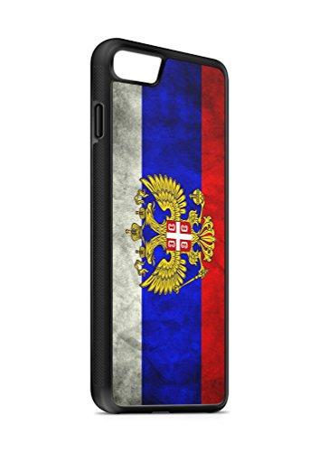 Kompatibel mit iPhone 8 Silikon Handyhülle Flexibles Slim Case Cover Russland Fahne Flagge Schwarz