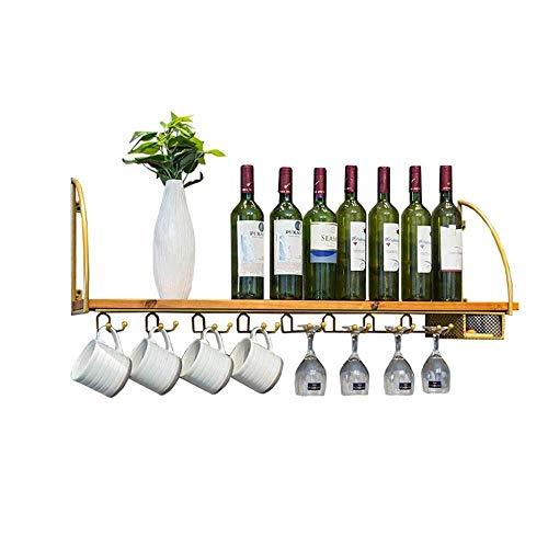 Decora Little wijnrek in Europese stijl, wandhouder | flessen en inlegplanken van glas | kurk voor rode wijn, witte wijn, champagne | wandhouder voor wijnflessen | Decora Little