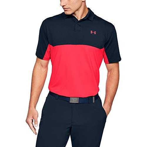 Under Armour Herren Performance Golf 2.0 Colorblock Polo, Academy Blue (409)/Beta, X-Large