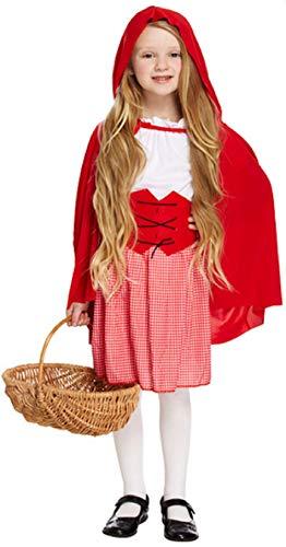 Disfraz de Caperucita Roja para niña, 4 piezas, para el día / semana del libro, cuento de hadas, Halloween, tallas de 4 a 12 años