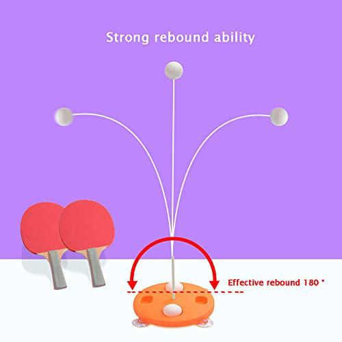 YXFYXF Tischtennistrainer AusrüStung Indoor Outdoor Erwachsene/Jugendliche/Kinder Elastische Weiche Achse Tischtennisball Helfer Freizeit Dekompression SportausrüStung Spieleinrichtung,Orange