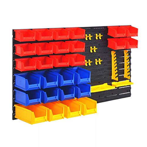 vidaXL Stacking Boxes Tool Wall Storage Boxes Storage System Plastic One Size