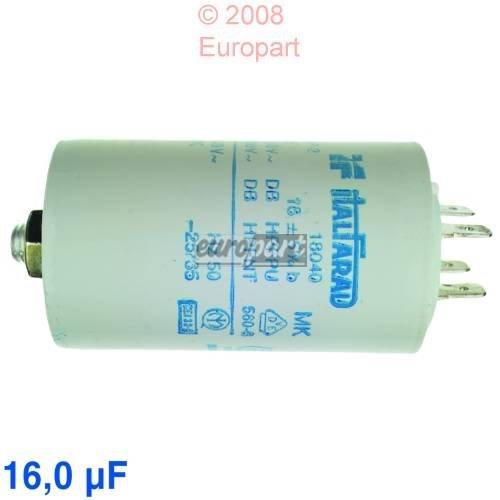 Kondensator 16 µ F, 450 Volt Steck