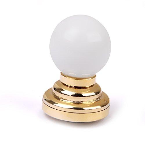 Sharplace 1/12 Puppenhaus Miniatur Kugelform Tischlampe Lampe aus Metall & Kunststoff Puppenstube Zubehör -2 x 3 cm