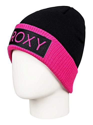 Roxy Valley - Gorro con Dobladillo para Mujer Gorro, Mujer, True Black,...