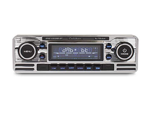 Caliber RMD120DAB-BT - Autoradio mit DAB+ und Bluetooth - Retro-Look - Chrom