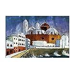 Pknbfw Walter Gramatte, antiguo artista famoso, pintura de Cádiz, cuadro impreso en lienzo para colgar en la pared de la habitación, decoración, ilustraciones -60x80cm sin marco