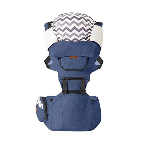 Porte-bébé Multifonction Tabouret épaules et Taille pour bébé Banc Respirant des Quatre Saisons, Design de fenêtre de Poche ( Color : C )
