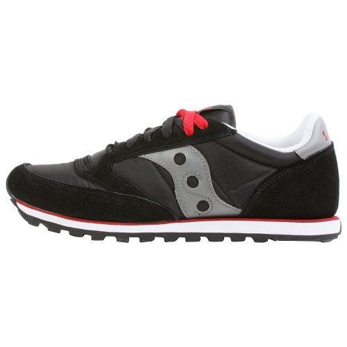Saucony Originals Men's Jazz Low Pro Classic Retro Sneaker, Black/Silver, 10.5 M US