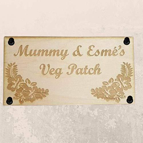 Be-Creative Drewniane tabliczki - (4 otwory) 15 cm x 5 cm