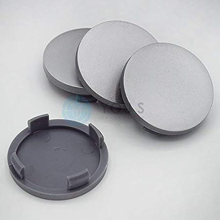 8x YOU.S Nabenkappen Nabendeckel Radnabenabdeckungen Zierkappen 58 55 mm schwarz