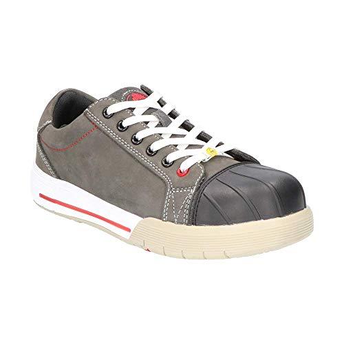 Zapatos de Seguridad S3 ESD con Puntera - Anti-Estático / Suela Resistente al Calor / Cool System Tech / Sin Metal - para Trabajo, Electricidad, Construcción, Industria, Logística, Almacén - Color: Gris - M. BICKZ 728 (40T)