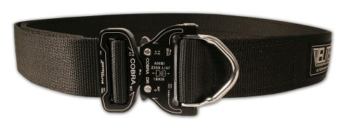 Elite Survival Systems Cobra Rigger's Belt with D Ring Buckle (Black, Large)