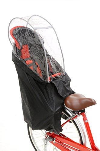 OGK技研 うしろ子乗せ用ソフト風防レインカバー RCR-003 ブラック 専用袋付