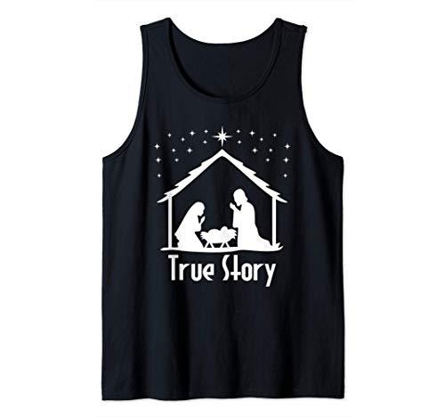 True Story of Jesus Birth Nativity Christmas Religious Gift Tank Top