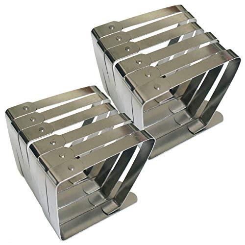 SuperHandwerk 12pcs Tischdeckenklammern Edelstahl Tischklammern Tischtuch Clips Größer Tischdeckenbeschwerer für Tischplatten bis 50 mm